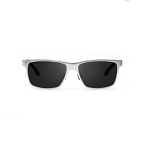 Polarizer Black De Lunettes Conduisant Sun Lunettes ash Conduite Frame En Mode De De frame black Gun Des LIZHIQIANG Magnésium Soleil Aluminium Couleur Ash Silver 5B8xqttw