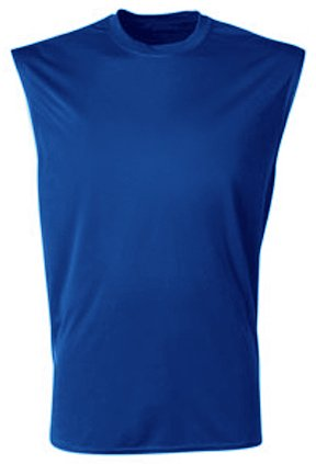 A4 Men's Cooling Performance Muscle T-Shirt, Royal, X-Large