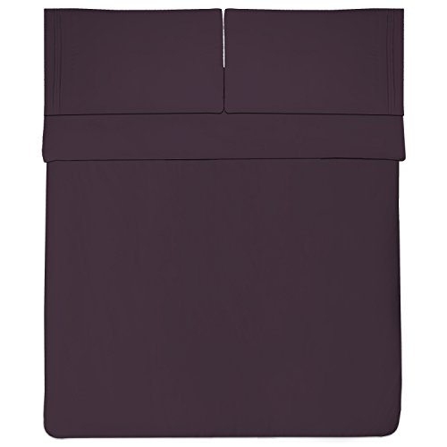 Sweet Home Collection 1800 Thread Count Bed Sheet Set Egyptian Quality Brushed Microfiber 4 Piece Deep Pocket, RV Short Queen, Purple by Sweet Home Collection (Image #2)
