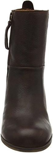 Hub W1604L81-L01 - Botas Cortas con Tacón Para Mujer Marrón (Dark Brown 017)