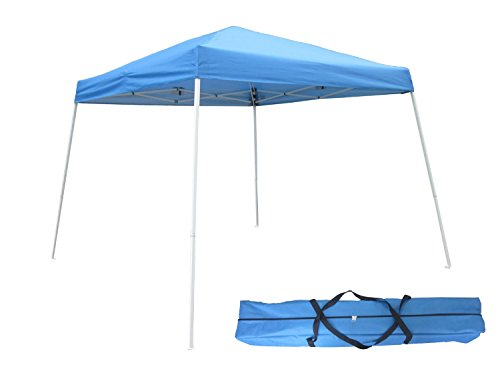 OTLIVE 10'x10′ Commercial Canopy Slant Leg Easy Pop-Up Sun Rain Canopy Shade (Blue)