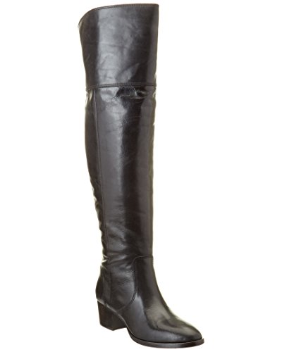 FRYE Women's Clara OTK Leather Slouch Boot Black Extended