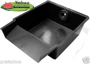 Nelson 39 s pond waterfall spillway filter box for Homemade pond filter box