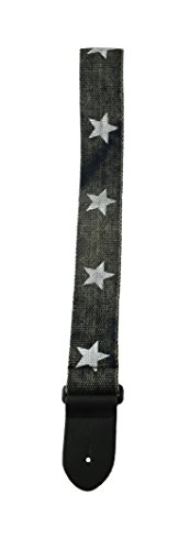 Perris Leathers BCT-6528 2-Inch Deluxe Cotton Guitar Strap with Leather Ends