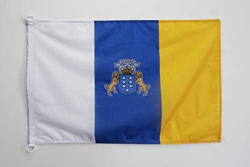 AZ FLAG Bandera de CANARIAS 90x60cm Uso Exterior - Bandera ...