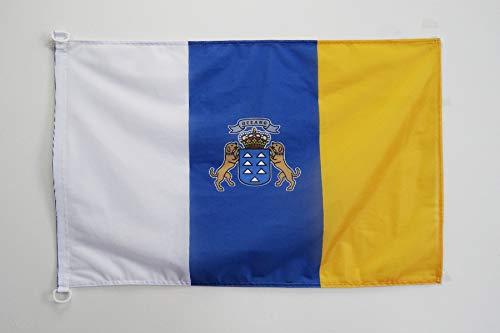 AZ FLAG Canary Islands Nautical Flag 18'' x 12'' - Spanish Region of Canarias Flags 30 x 45 cm - Banner 12x18 in for Boat (Canary Islands Flag)
