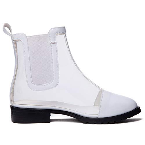 Blanc Femmes Plat Bottines Clearance Lydee Mode vbgIfymY76