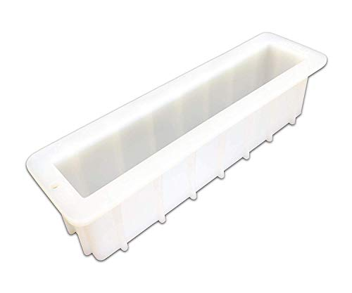 Mose Cafolo Large Loaf Soap Mold Thick Lip Silicon Rectangular Mould DIY Handmade Swirl Making Tools Tall 12''