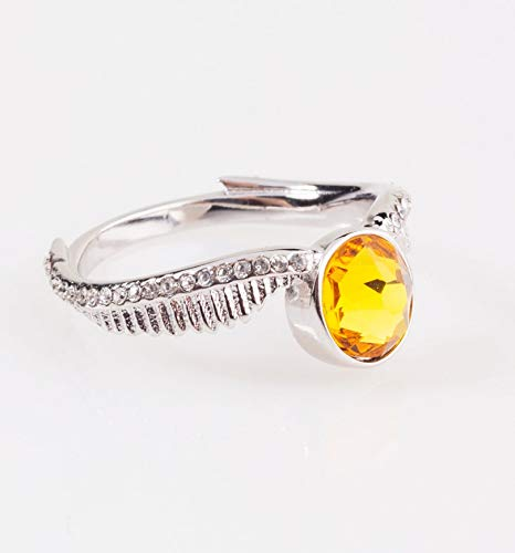 Swarovski Golden Ring (Swarovski Crystal Embellished Harry Potter Golden Snitch Ring)