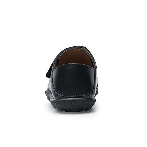 Slip Loafers Eleganti On Mocassini Traspirante di da Scarpe Scarpe SK Piatte Guida da Studio Pelle nero Barca Uomo Nero Casuale fWYFB7Rqw