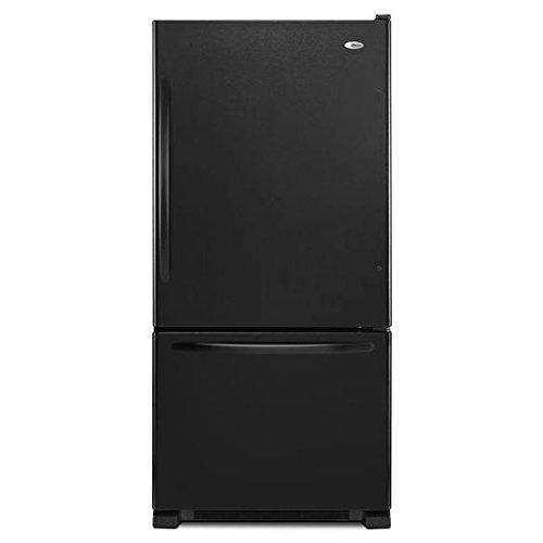 Amana ABB2224BRB 21.9 Cu. Ft. Black Bottom Freezer Refrigerator - Energy Star