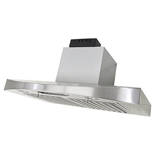 KOBE RA3830SQB-5 Deluxe 30″ Under Cabinet Range Hood, 3-Speed, 680 CFM, LED Lights, Baffle Filters