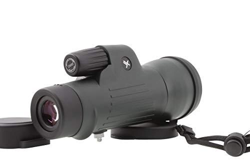- Xgazer Optics 12x50 Point View High Powered Monocular- Waterproof Bird Watching, Hunting, Fishing,Travel, Safari, Hiking, Monocular- Long Range, Eye-Relief Monocular w/Neck Strap, Case & Cloth