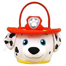 Paw Patrol Marshall Plush Basket-Bucket for Easter Halloween or Storage anytime Huge ()