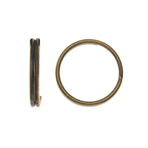 Beadaholique Split Rings, 7mm Diameter 23 Gauge Wire, 50 Pieces, Antiqued Brass