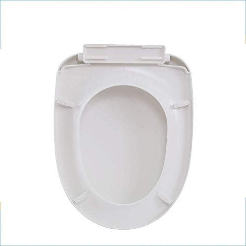 S-graceful便座U形ユニバーサル便座調節可能なヒンジクイックリリースドロップミュート取り付けが簡単トップマウントトイレ蓋、白