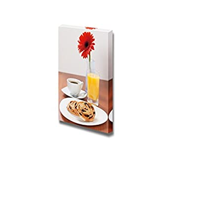 Still Life Continental Breakfast Served with Coffee and Orange Juice - Canvas Art Wall Art - 24