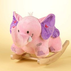 Ababy Personalized Bella the Pink Elephant Rocker - Personalized Infant Rocker