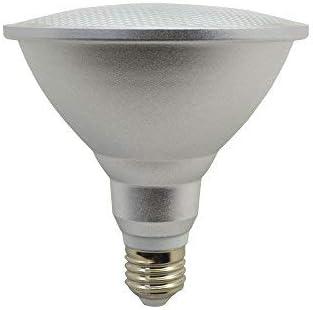 Bombilla LED E27 Base PAR38 15W, IP65 a prueba de agua, 150W equivalente a halógeno, 85-265V, Proyector de ángulo de haz de 120 °, Caja de aluminio, Reflector CRI> 90, Paquete 1 (Blanco cálido)