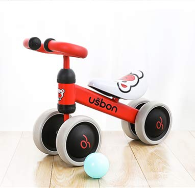 (Baby Balance Bike, Ride on Scooter, Mini Bike, Bicycle for Children Riding Toy Balance Baby Walker Push Car Walking Buddy Bike for Baby Kid Toddler Indoor Outdoor Activities 6-48 Months (Red))