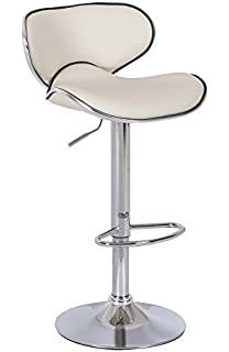 HNNHOME Vegas Swivel Faux Leather Breakfast Kitchen Bar Stools Pub Barstools Cream