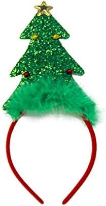 Letuwj クリスマス カチューシャ ヘアバンド 髪飾り かわいい 一つクリスマスツリー 12x26cm