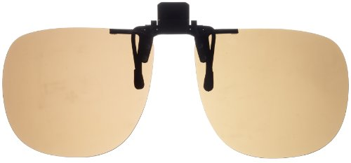 Fisherman Eyewear 8FCO Clip On Original Black Square Frame Polarized Sunglasses (Brown - Com Clip On Sunglasses