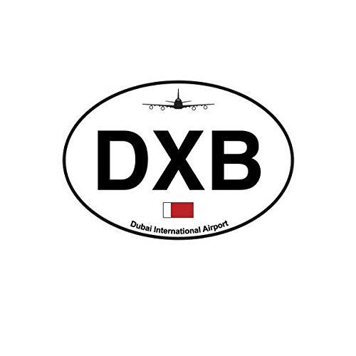 Morgan Graphics Dubai Airport Euro Oval Sticker Decal Vinyl DXB United Arab Emirates Vinyl Decal Sticker Car Waterproof Car Decal Bumper Sticker 5