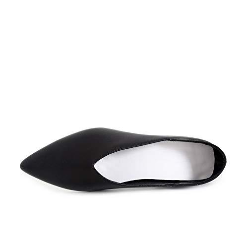 Noir Structuré En Mms06585 Robe Inconnu Solide 1to9 nbsp;womens Chaussures Uréthane Pompes SzUMGqVp