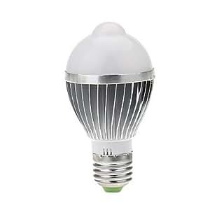 KUKU- E27 5W 18*5730SMD 850LM 3000K Warm White Light LED Sensor Bulb(AC 85-265) , Silver