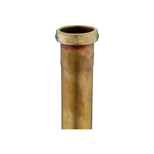 1-1/2 inch x 12 inch, 17 Gauge, Slip Joint Extension Tube (Rough Brass)