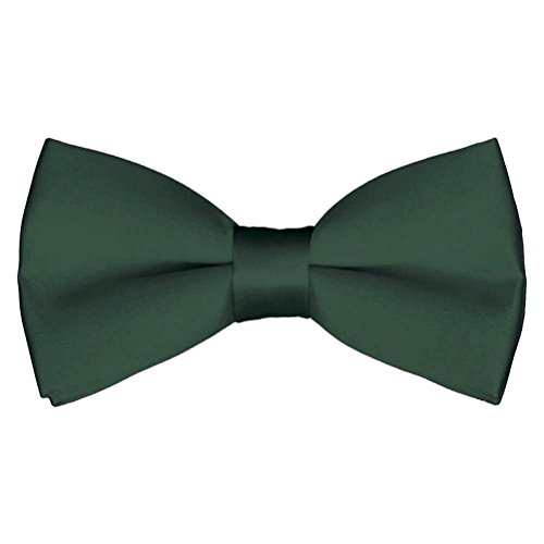 (Mens Classic Pre-Tied Satin Formal Tuxedo Bowtie Adjustable Length Large Variety Colors Available, by Platinum Hanger (Green))