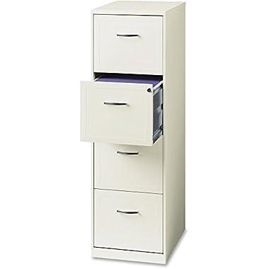 Hirsh 4-Drawer Steel File Cabinet, Baked Enamel