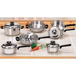 17pc Stainless Steel Waterless Cookware Set for sale  Delivered anywhere in USA