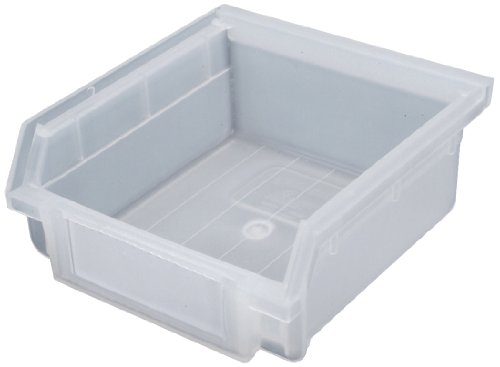 Triton Products 2-205TR LocBin Hanging Nesting Polypropylene Bins with White Product Identification Labels for Molded Front Holder, Translucent, 30-Count
