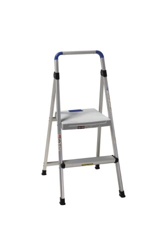 Cosco 11628ABL1 Lite Solutions 225-Pound Duty Rating Aluminum Step Stool, 2-Step