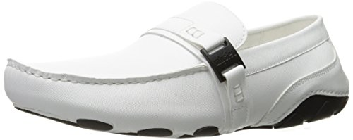 Unlisted By Kenneth Cole Mens String Lungo Slip-on Mocassino Bianco