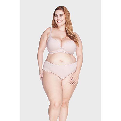 Calcinha Frente Dupla Plus Size Rosa-52