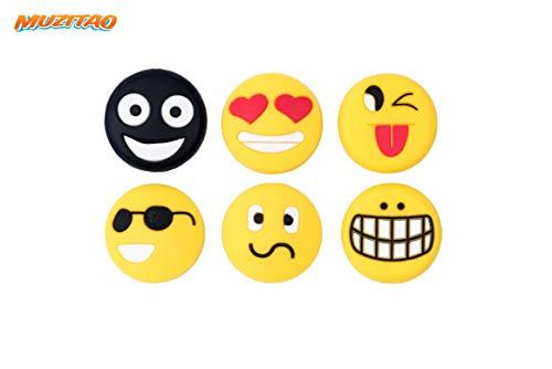 Muzitao Tennis Vibration Dampeners Emojis (6 Pack)