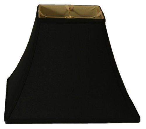 Royal Designs Square Bell Basic Lamp Shade, Black/Gold 7 x 1