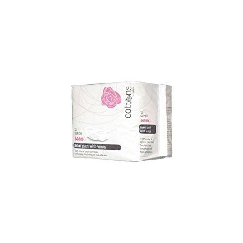 COTTONS COMPRESA Maxi con ALAS S/ÚPER ALGOD/ÓN 100/%
