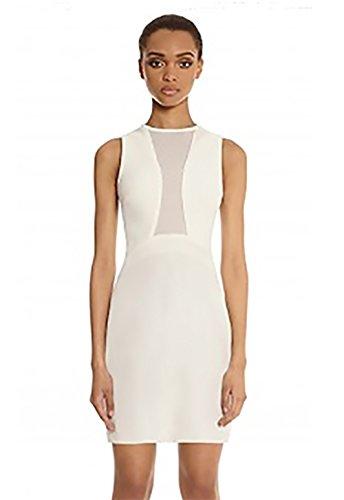 Scorpio Dress - AQ Scorpio Paneled Mini Dress in Cream (8)