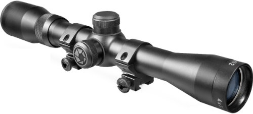 BARSKA 4x32 Plinker-22 Riflescope w/ 3/8-Inch Dovetail Rings (Barska Plinker 22 Scope With Rings 4x32)