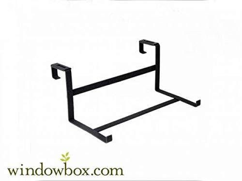 Deck Drape Flower Box Bracket with 9 inch Shelf - for 2x4 or 2x6 Wood Railing by Windowbox
