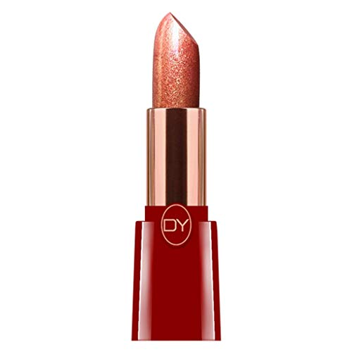 WENSY Luxury Shiny Gold-Plated Chubby Silver Natural Waterproof Non-Stick Cup Long-Lasting Lipstick Lip Makeup