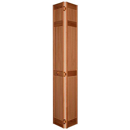 6-Panel Golden Oak Composite Interior Bi-fold Closet Door