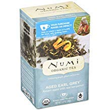- Numi Organic Tea Aged Earl Grey Black Tea, 18 ct