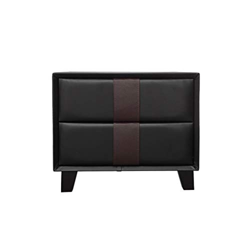 Jia He Nightstand Nightstand -Drawer Locker Bedside Table European Style Locker Bedroom Cabinet @@ (Chest Console Black European)