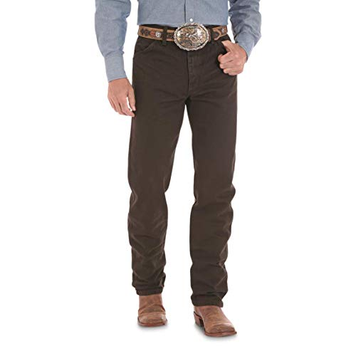 Wrangler Men's 13MWZ Cowboy Cut Original Fit Jean, Black Chocolate, 36W x 32L ()