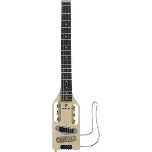 - Traveler Ultra-Light Electric Travel Guitar ULEL-NAT w/ Gig Bag & Bonus PVP-101 Variety Pick Pack (x12) 852104000734